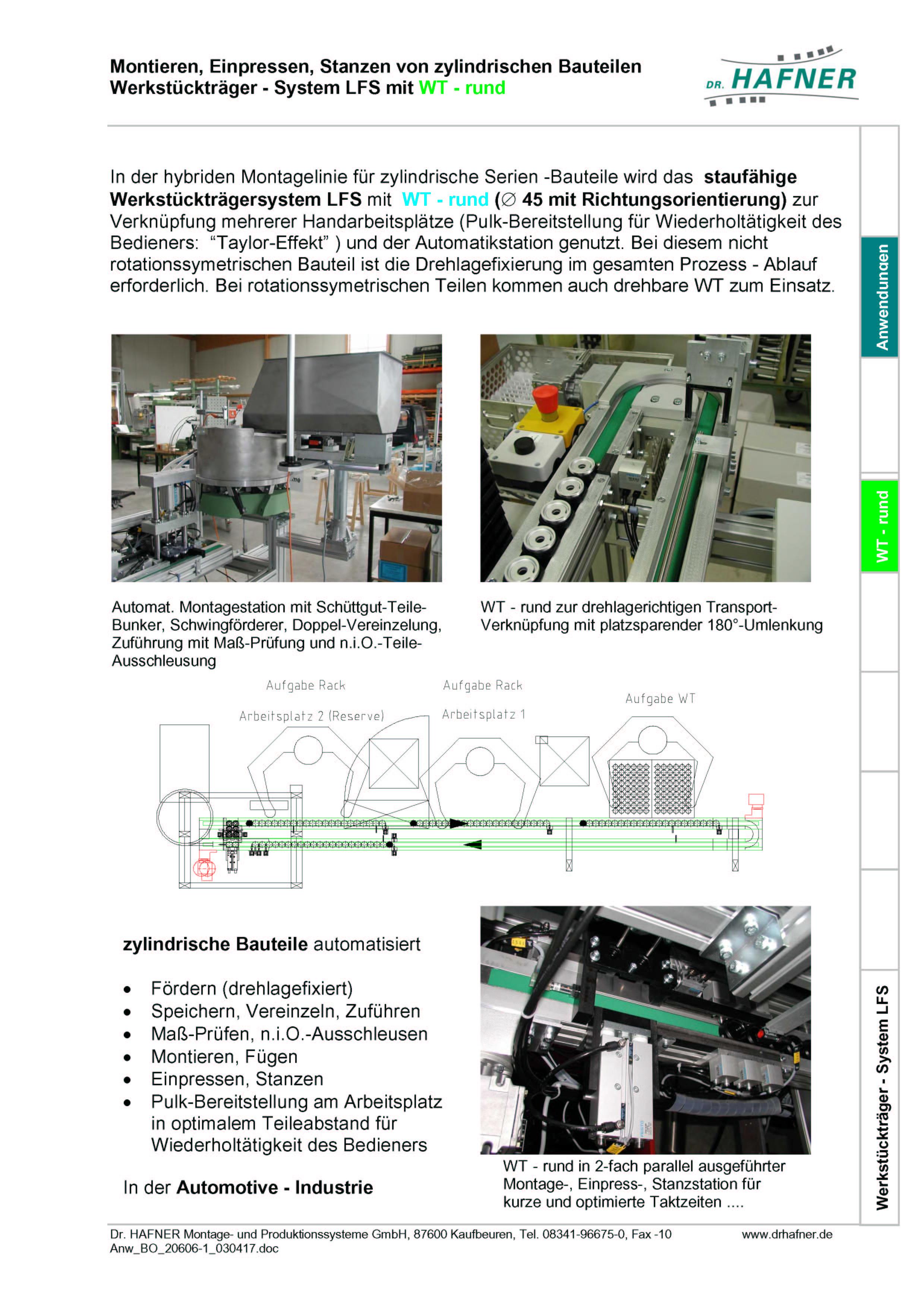 Dr. HAFNER_PKWP_22 Montieren Einpressen Stanzen Werkstückträger