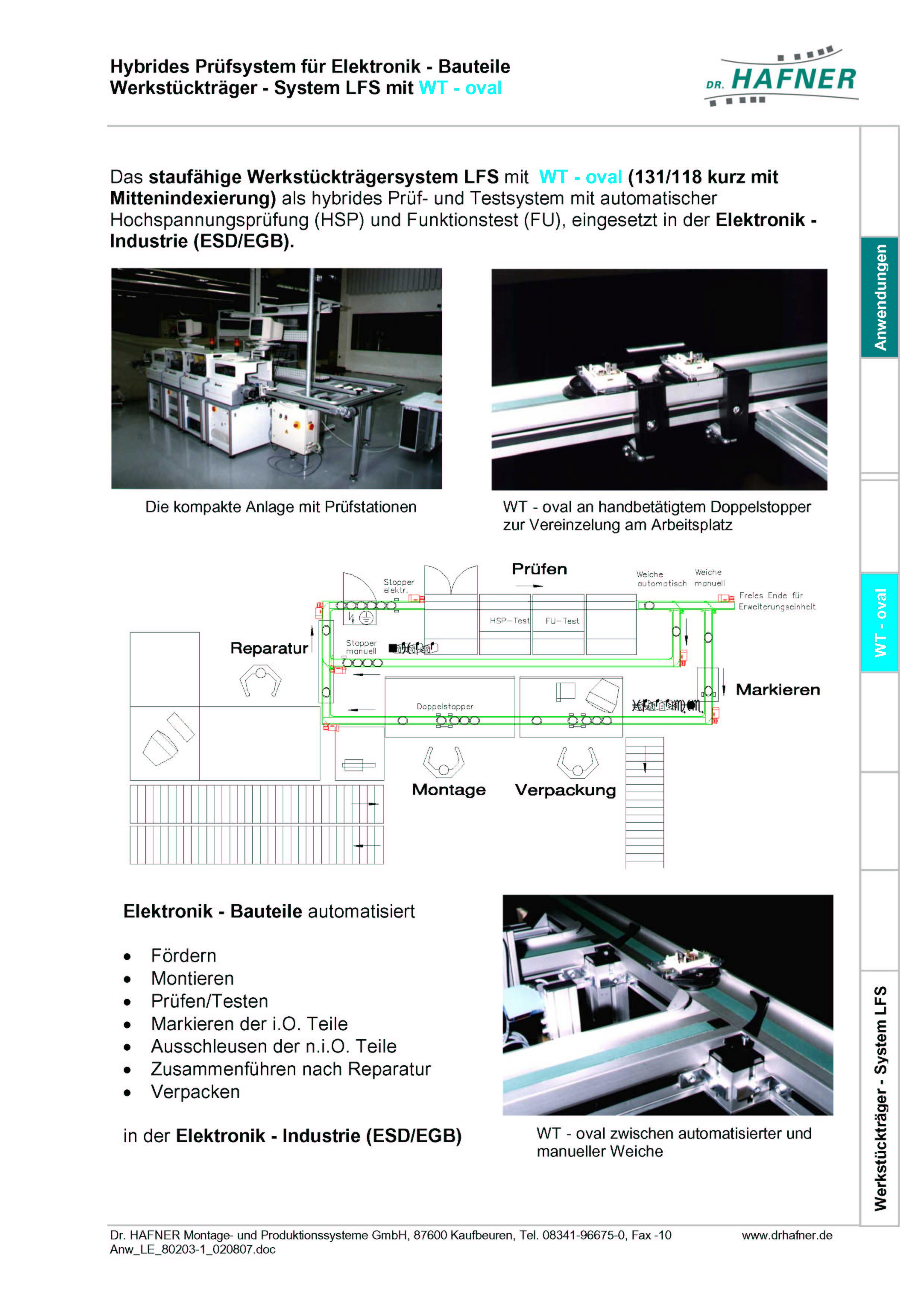 Dr. HAFNER_PKWP_23 Hybrides Prüfsystem Elektronik Werkstückträger