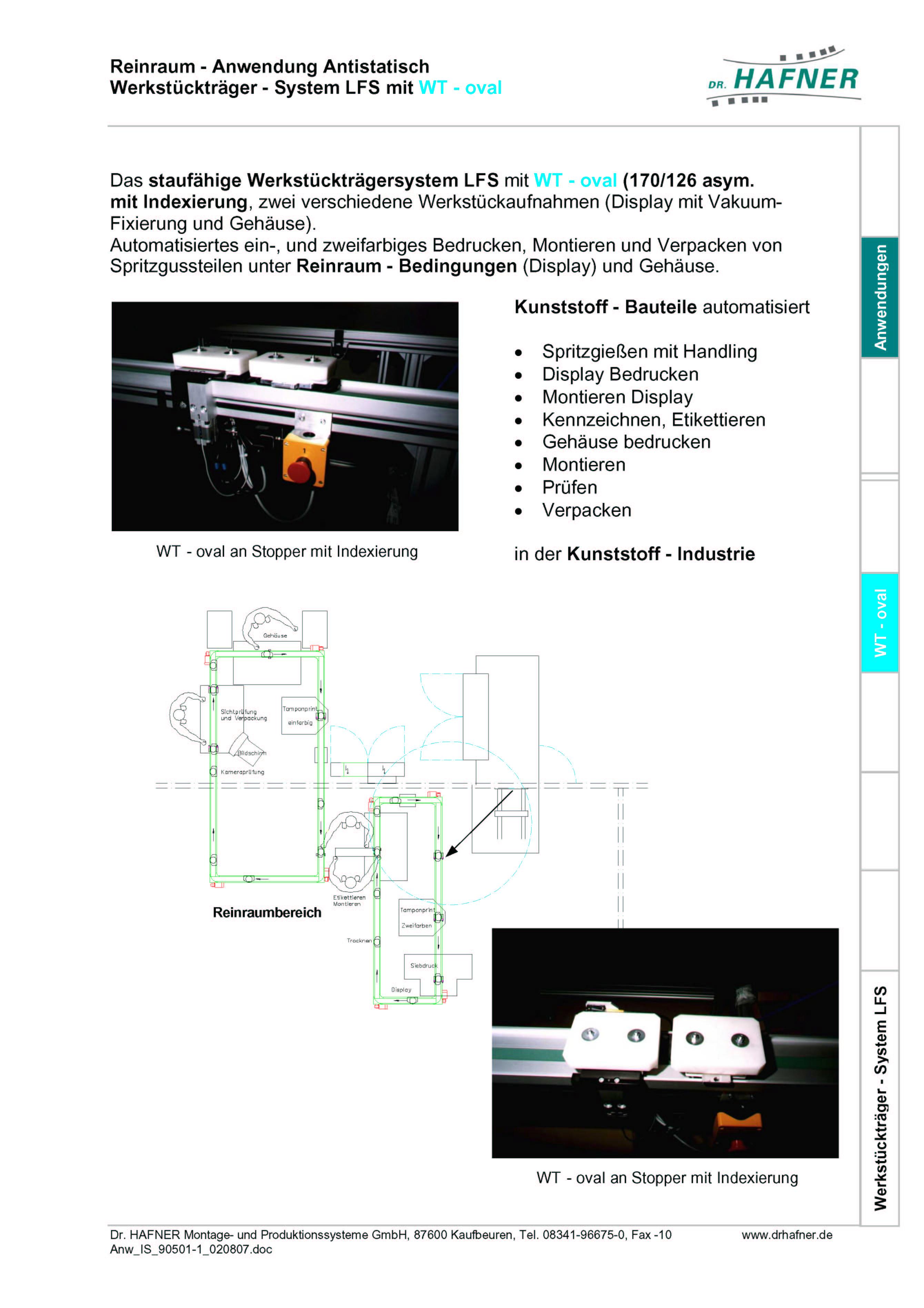 Dr. HAFNER_PKWP_24 Reinraum Antistatisch Werkstückträger