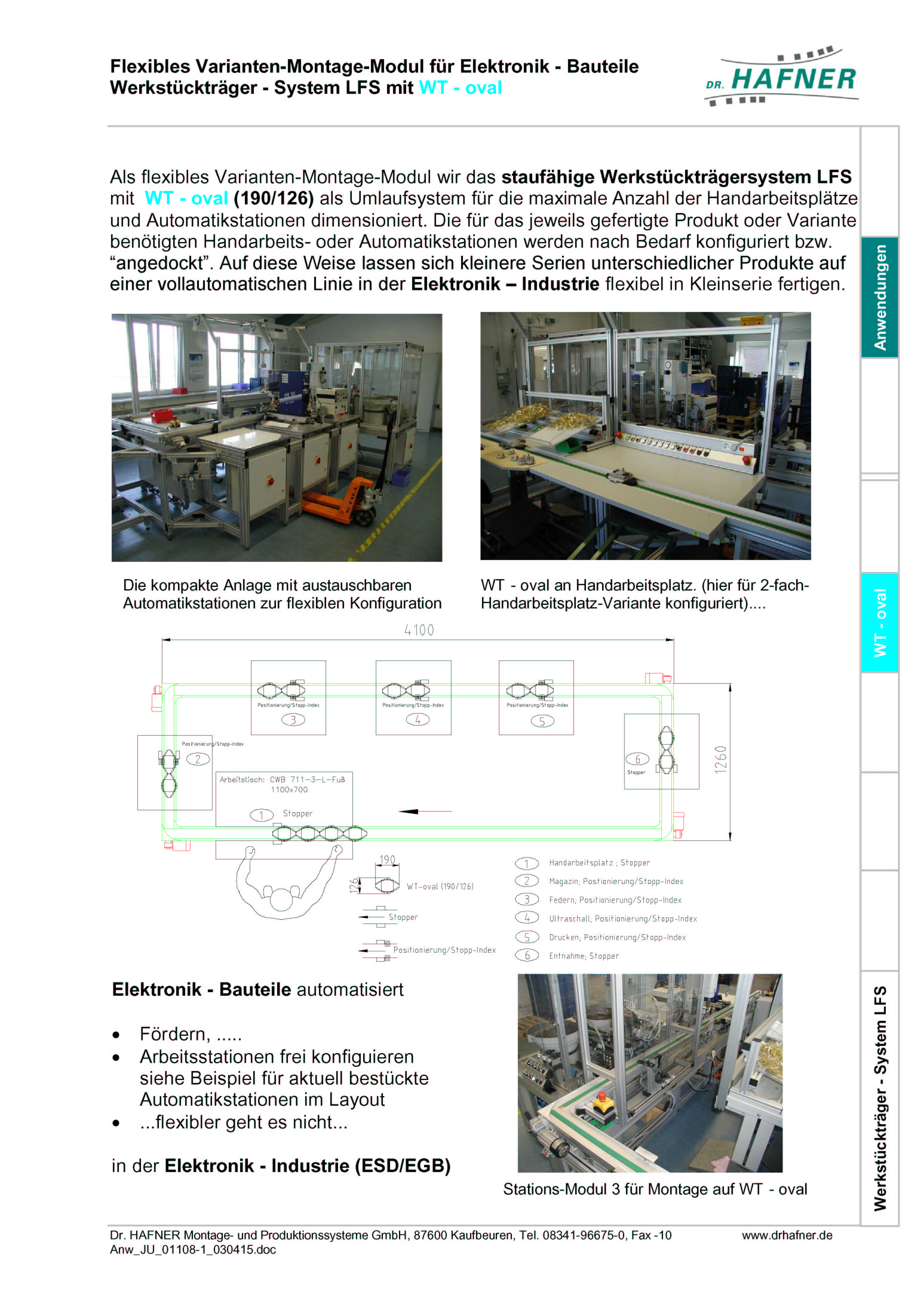 Dr. HAFNER_PKWP_26 Flexibles Varianten Montage Modul Elektronik Werkstückträger