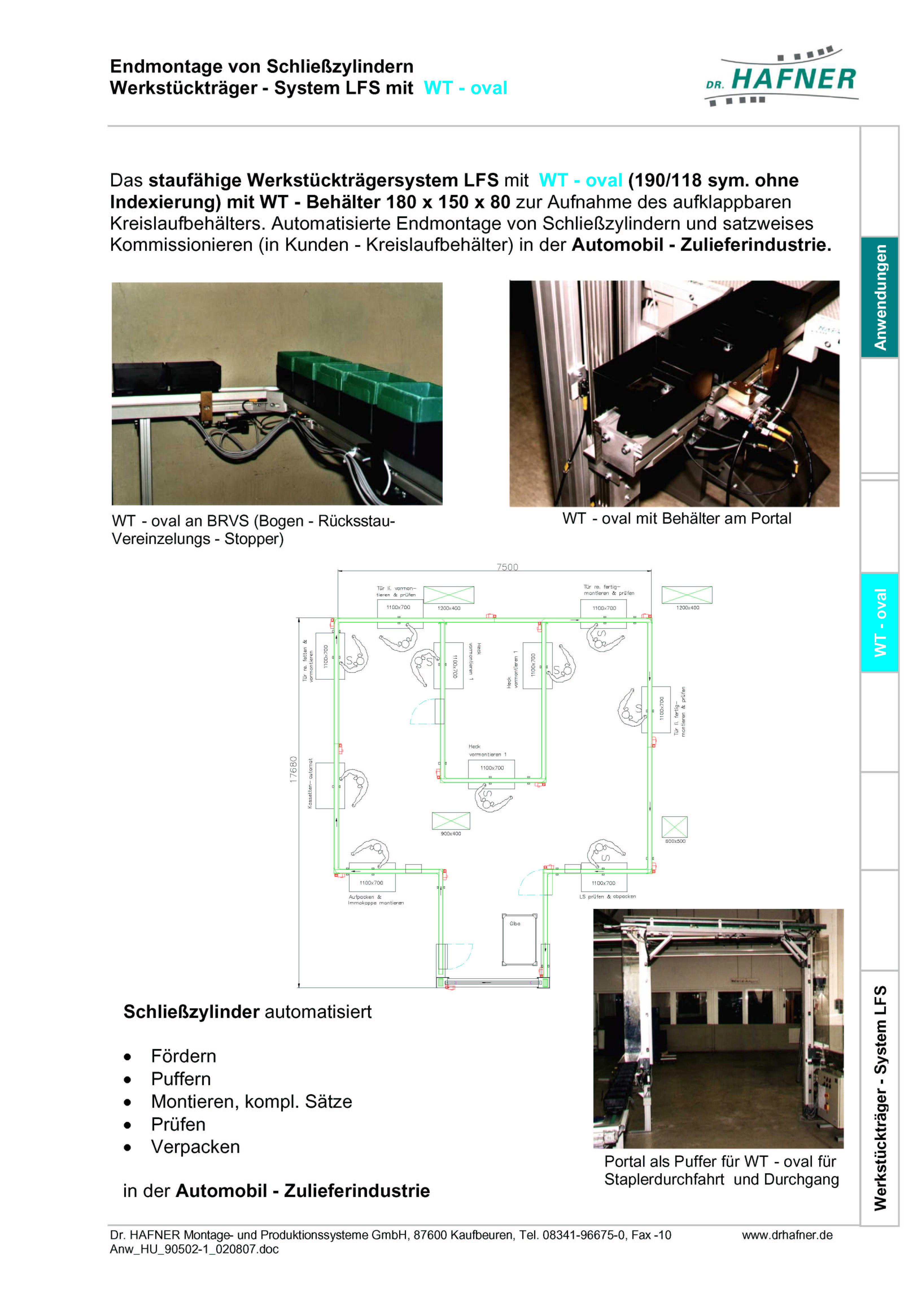 Dr. HAFNER_PKWP_28 Endmontage Schliesszylinder Werkstückträger