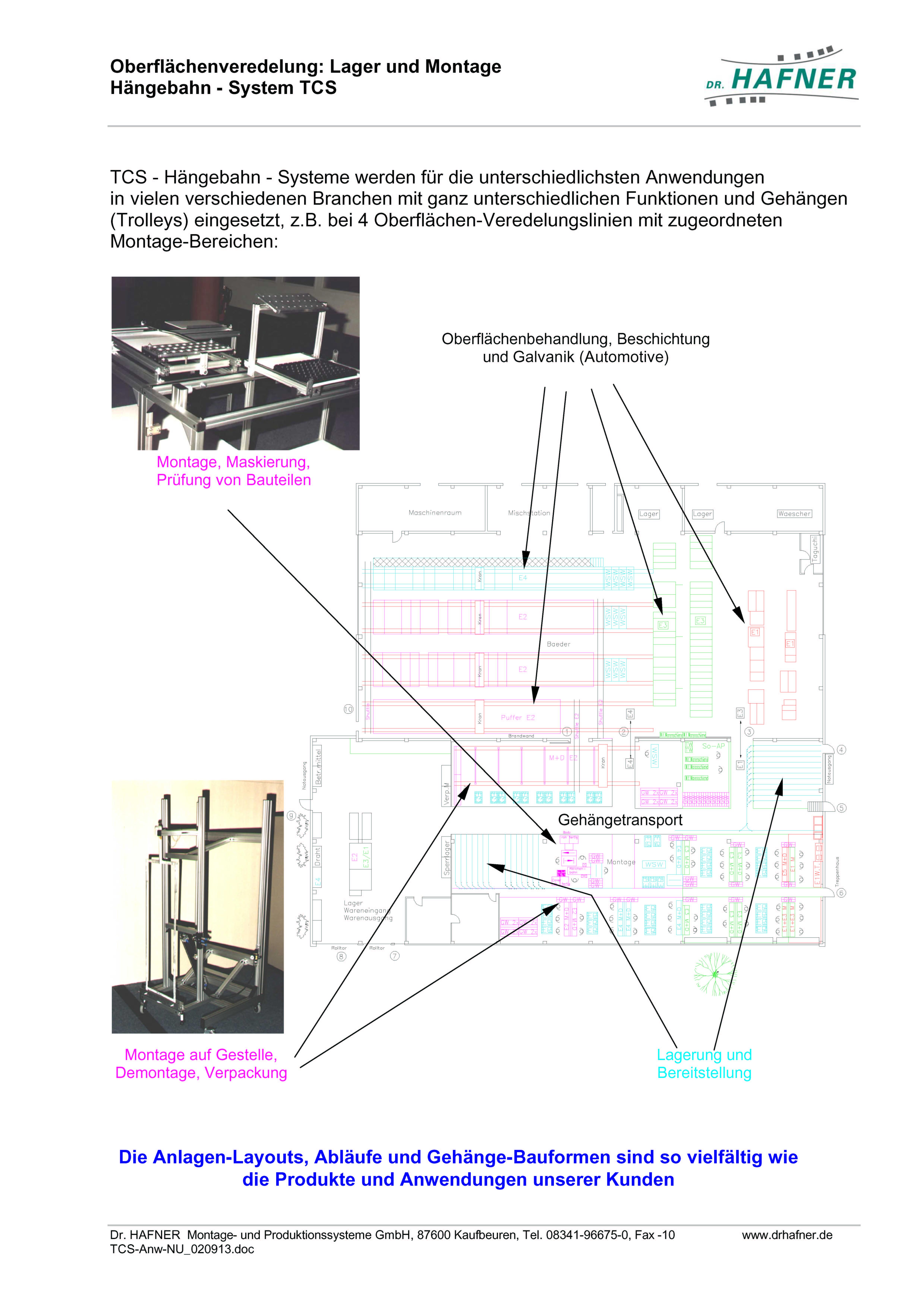 Dr. HAFNER_PKWP_43 Oberflächenveredelung Lager Montage Hängebahn