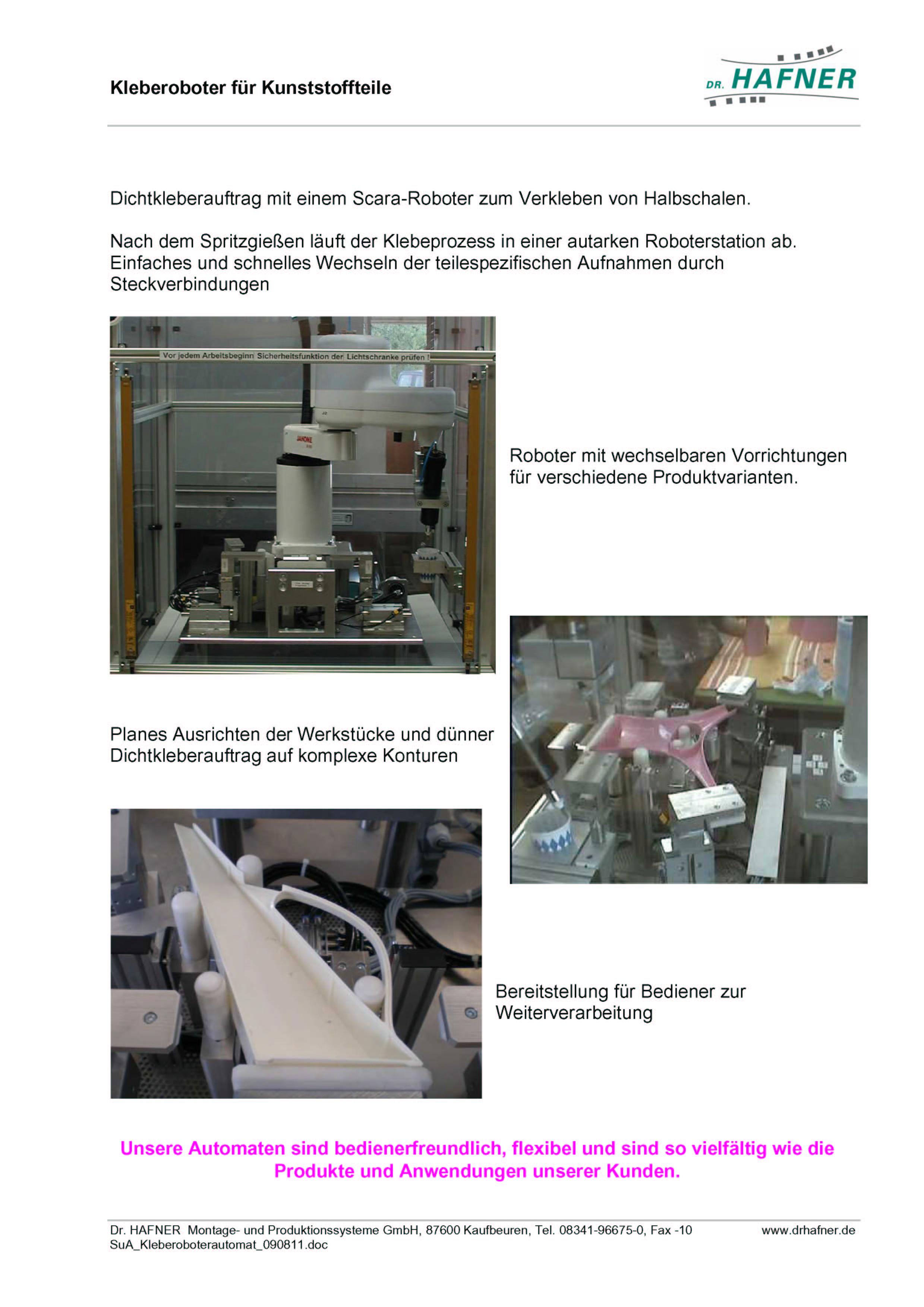 Dr. HAFNER_PKWP_62 Kleberoboter Kunststoffteile