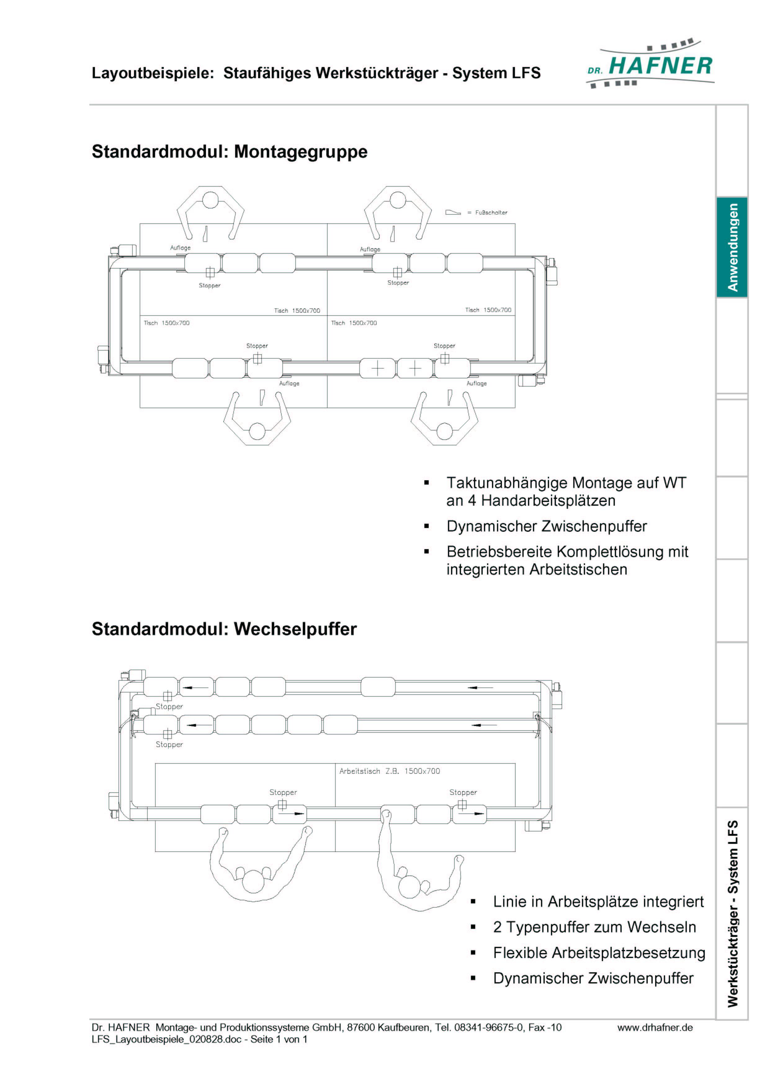 Dr. HAFNER_PKWP_32 Layout Montagegruppe Wechselpuffer Werkstückträger