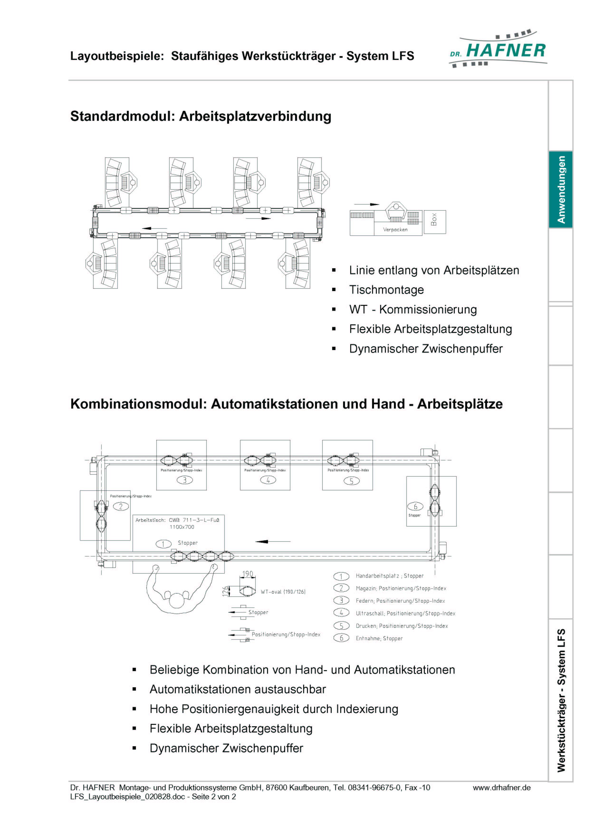 Dr. HAFNER_PKWP_33 Layout Arbeitsplatzverbindung Werkstückträger