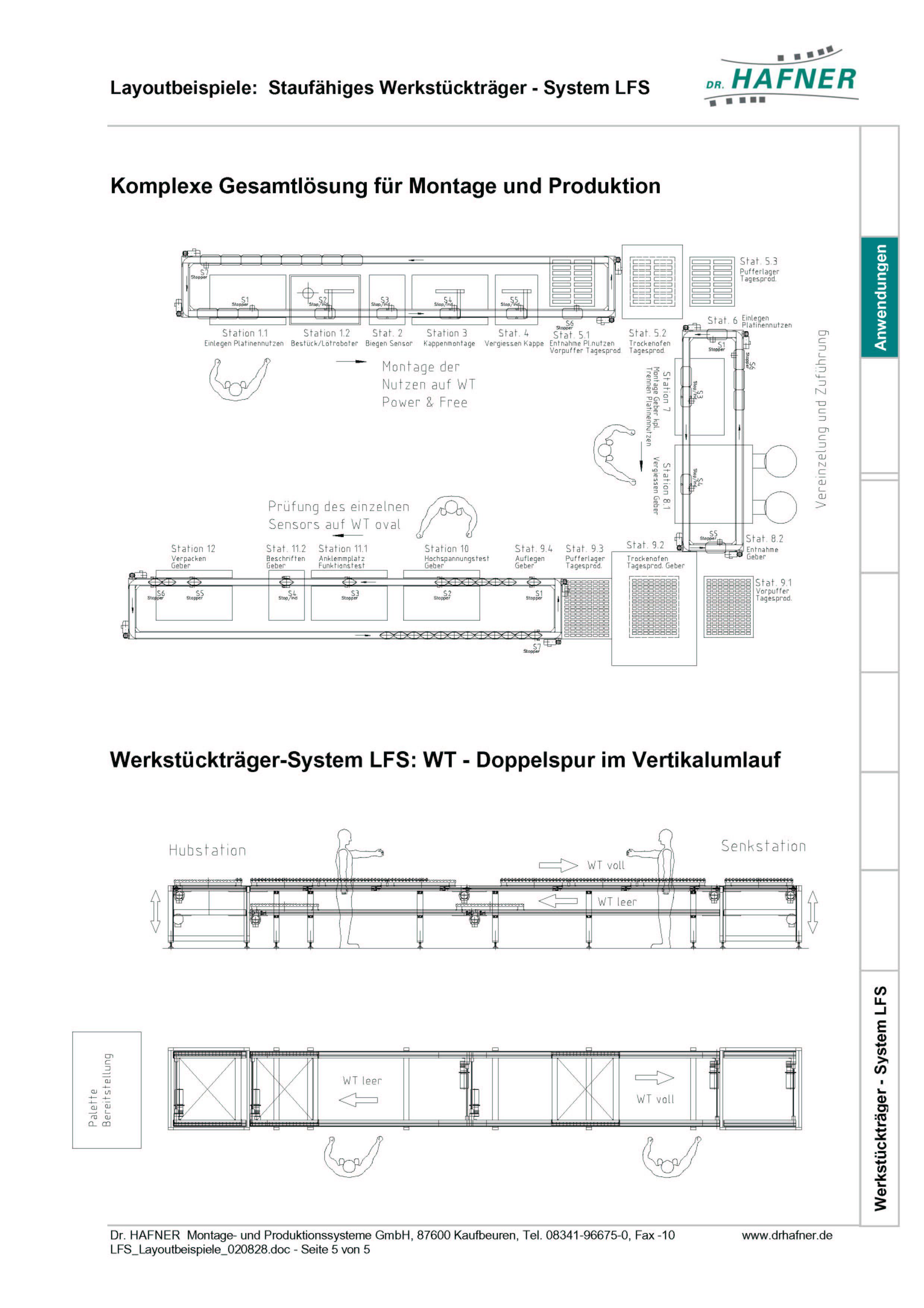 Dr. HAFNER_PKWP_36 Layout Montage Produktion Werkstückträger