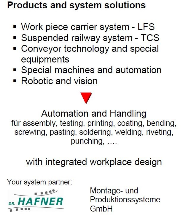 Product and system solutions